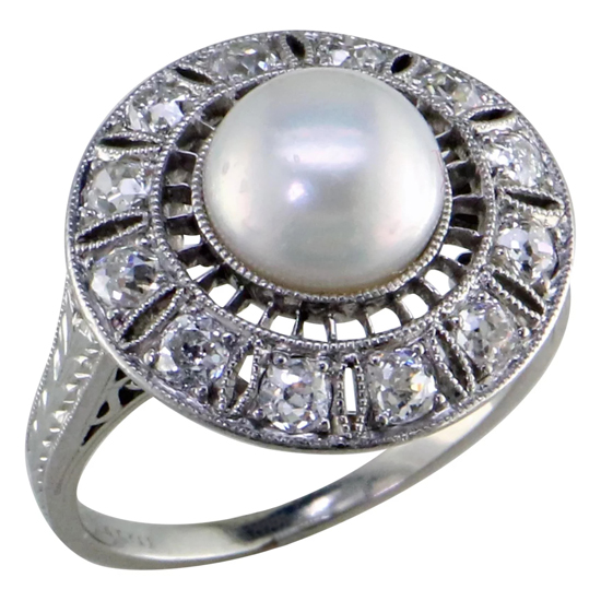 Edwardian Natural Pearl Ring