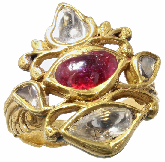 Vintage Ruby + Diamond Ring