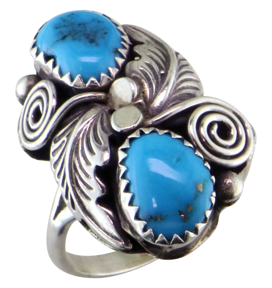 SS Vintage Turquoise Ring