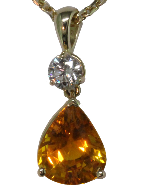 Vintage Yellow Sapphire Necklace