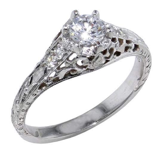 14kw Filigree Engagement Ring Mardon Jewelers