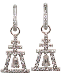 Diamond Raincross Enhancer Earrings