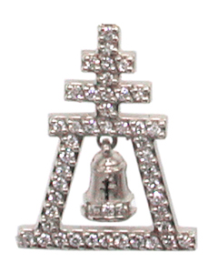 Diamond Raincross Tie-Tack / Pin