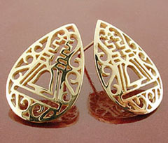 Filigree Raincross Stud Earrings