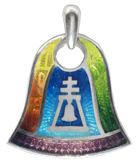 Technicolor Riverside Raincross Pendant