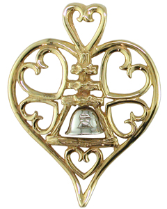 Extra-Large Heart of Riverside Raincross Pendant